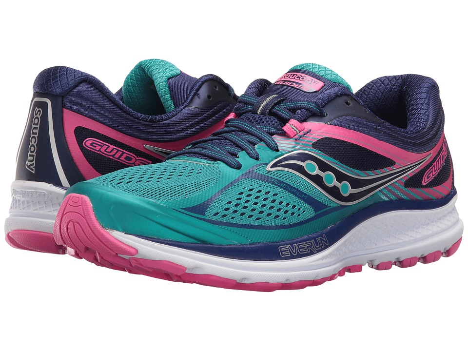 Saucony Guide 10 (Teal/Navy/Pink) Women