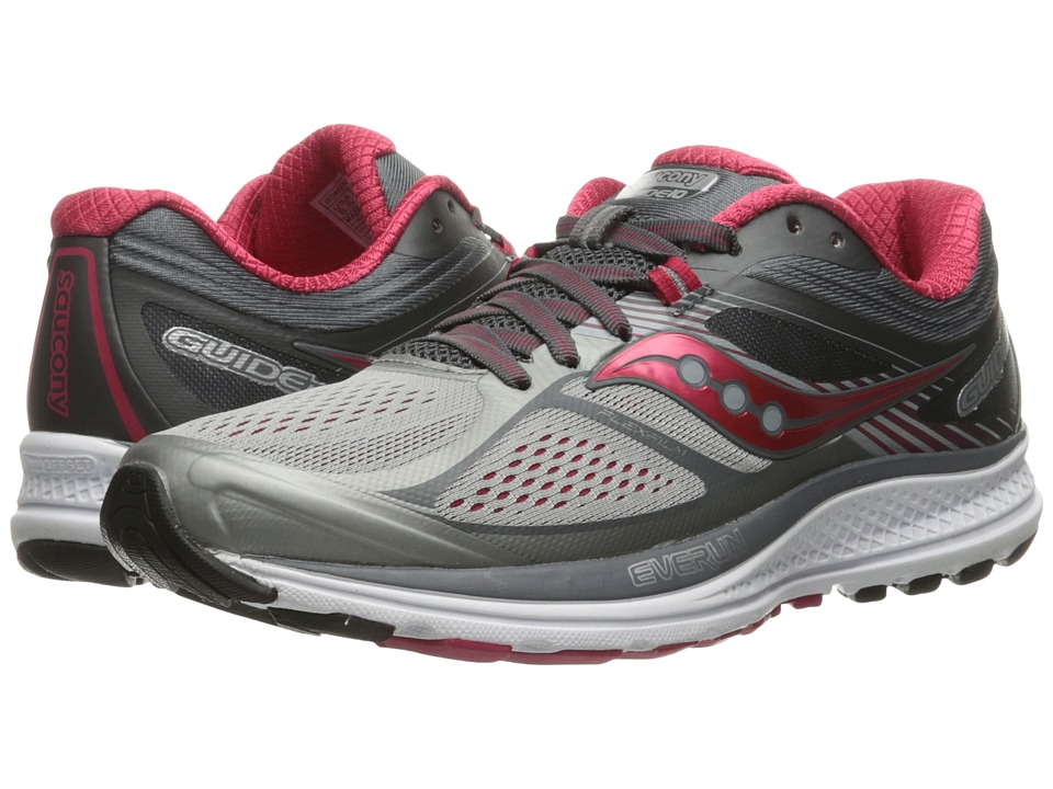 Saucony Guide 10 (Silver/Berry) Women