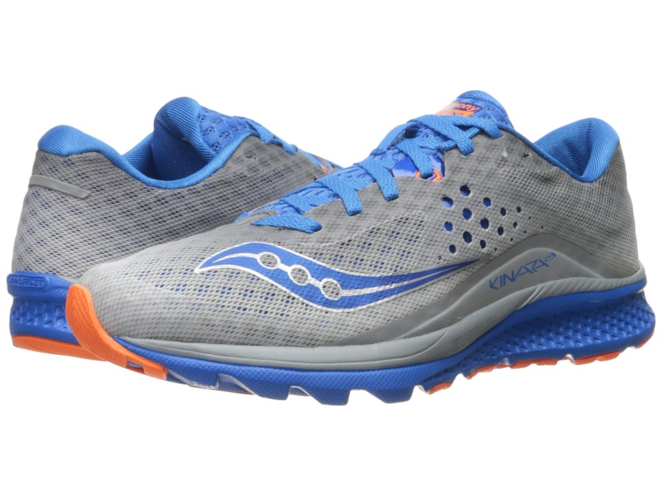Saucony Kinvara 8 (Grey/Blue/Orange) Men's Shoes