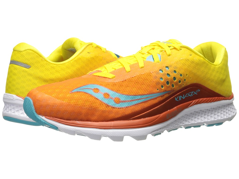 Saucony Kinvara 8 (Orange/Yellow/Blue) Women's Shoes