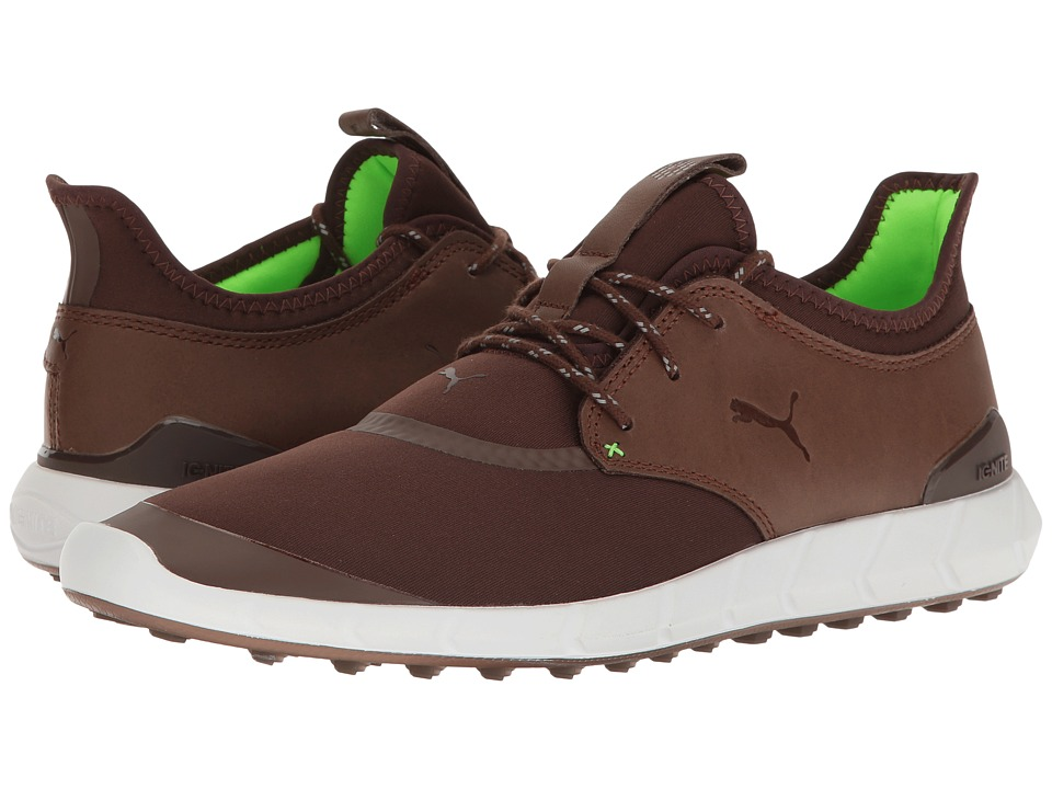 PUMA Golf Ignite Spikeless Sport (Chestnut/Green Gecko) Men