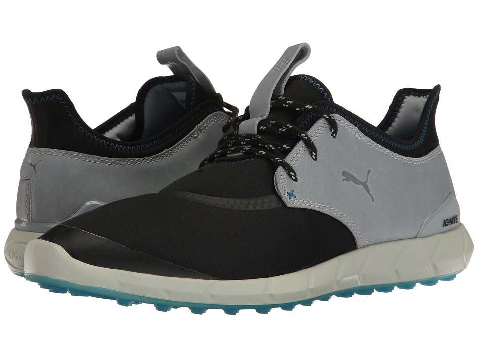 PUMA Golf Ignite Spikeless Sport (Black/Quarry/French Blue) Men