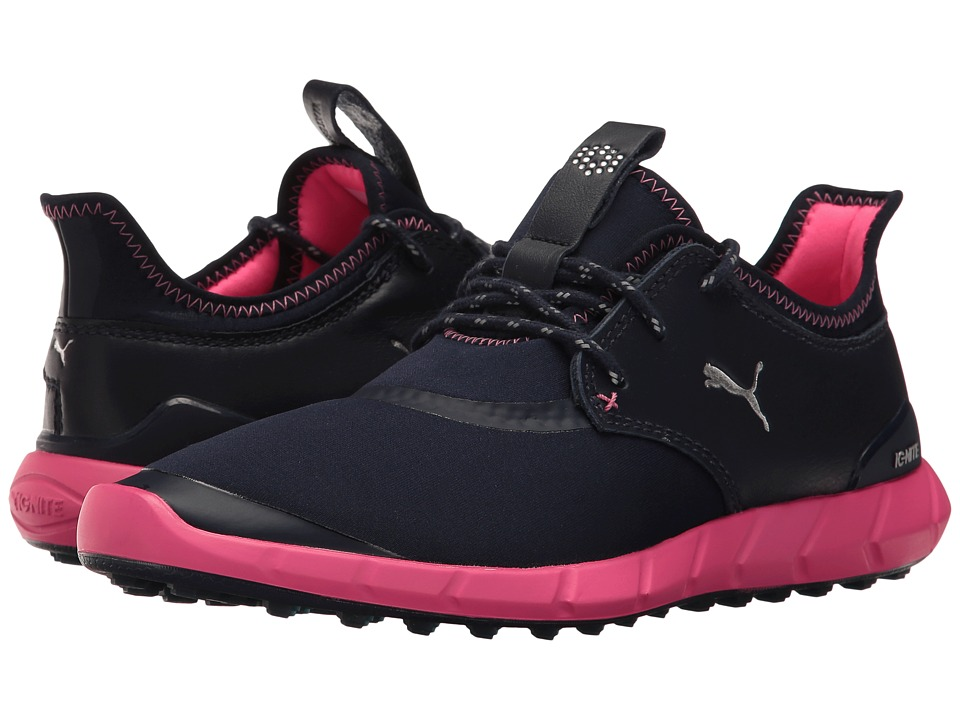 PUMA Golf - Ignite Spikeless Sport (Peacoat/Silver/Knockout Pink) Womens Golf Shoes