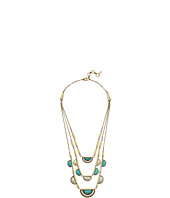 Lucky Brand - Turquoise Two-Tone Triple Layer Necklace