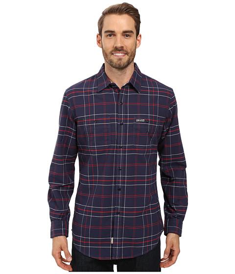 U.S. POLO ASSN. Long Sleeve Plaid Oxford Cloth Straight Point Collar Sport Shirt