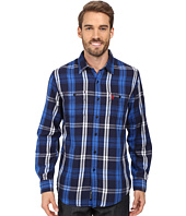 U.S. POLO ASSN. - Long Sleeve Classic Fit Plaid Peached Twill Straight Point Collar Sport Shirt