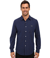 U.S. POLO ASSN. - Long Sleeve Slim Fit Cotton Dobby Straight Point Collar Sport Shirt