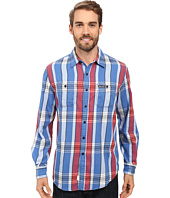 U.S. POLO ASSN. - Long Sleeve Slim Fit Brushed Twill Plaid Sport Shirt
