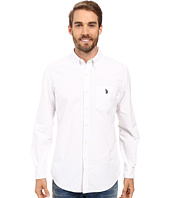 U.S. POLO ASSN. - Long Sleeve Classic Fit Solid Oxford Cloth Button Down Sport Shirt