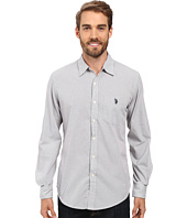 U.S. POLO ASSN. - Long Sleeve Slim Fit Dobby Stripe Sport Shirt