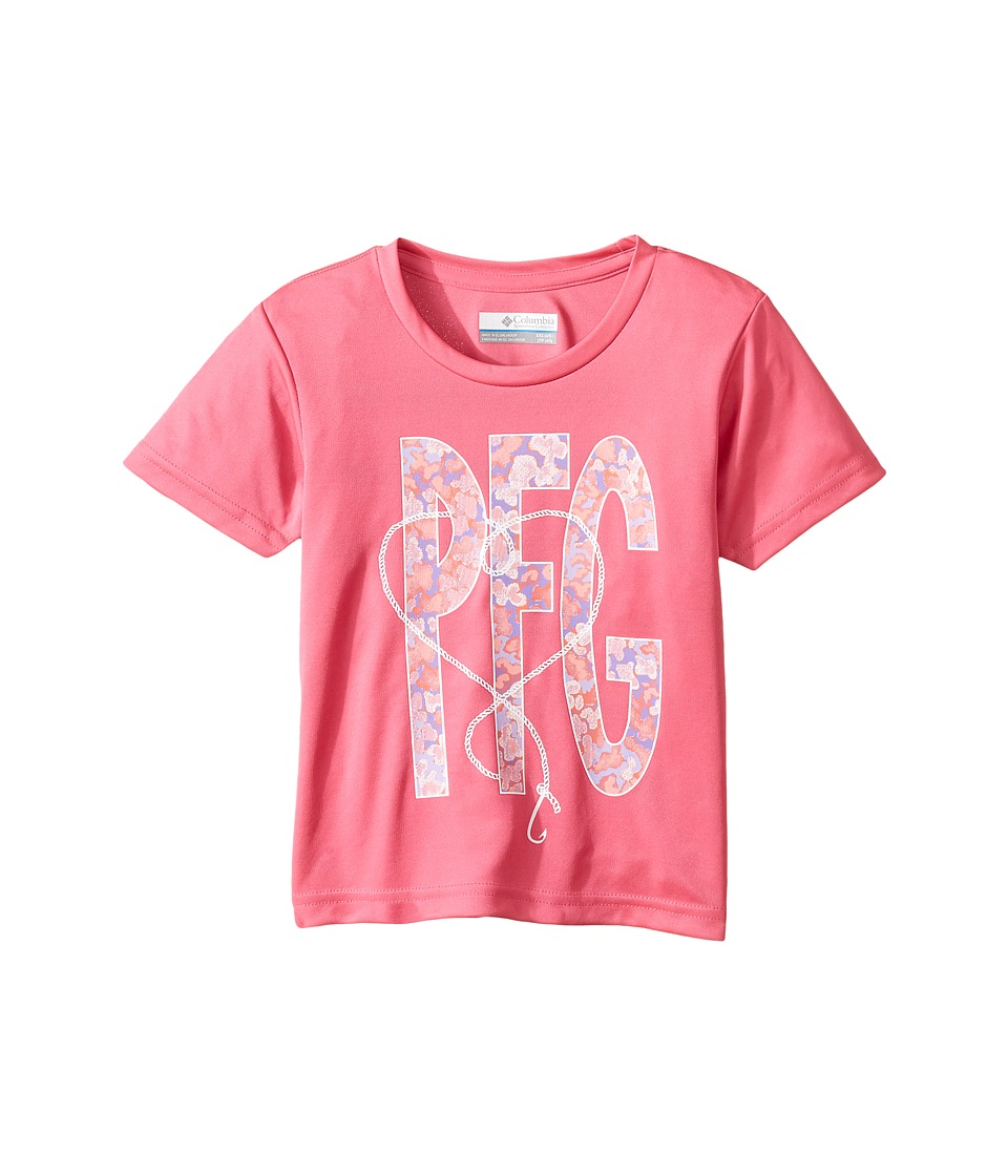 Columbia Kids PFG Reel Adventure Tee (Little Kids/Big Kids) (Wild Geranium) Girl