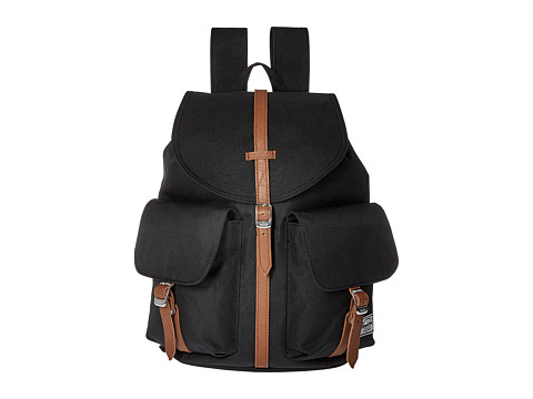 Herschel Supply Co. Dawson X-Small - Black/Tan Synthetic Leather
