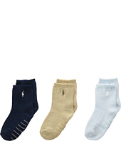 Polo Ralph Lauren - Flat Knit Crew 3-Pack (Infant)