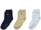 Polo Ralph Lauren Flat Knit Crew 3-Pack (Infant)