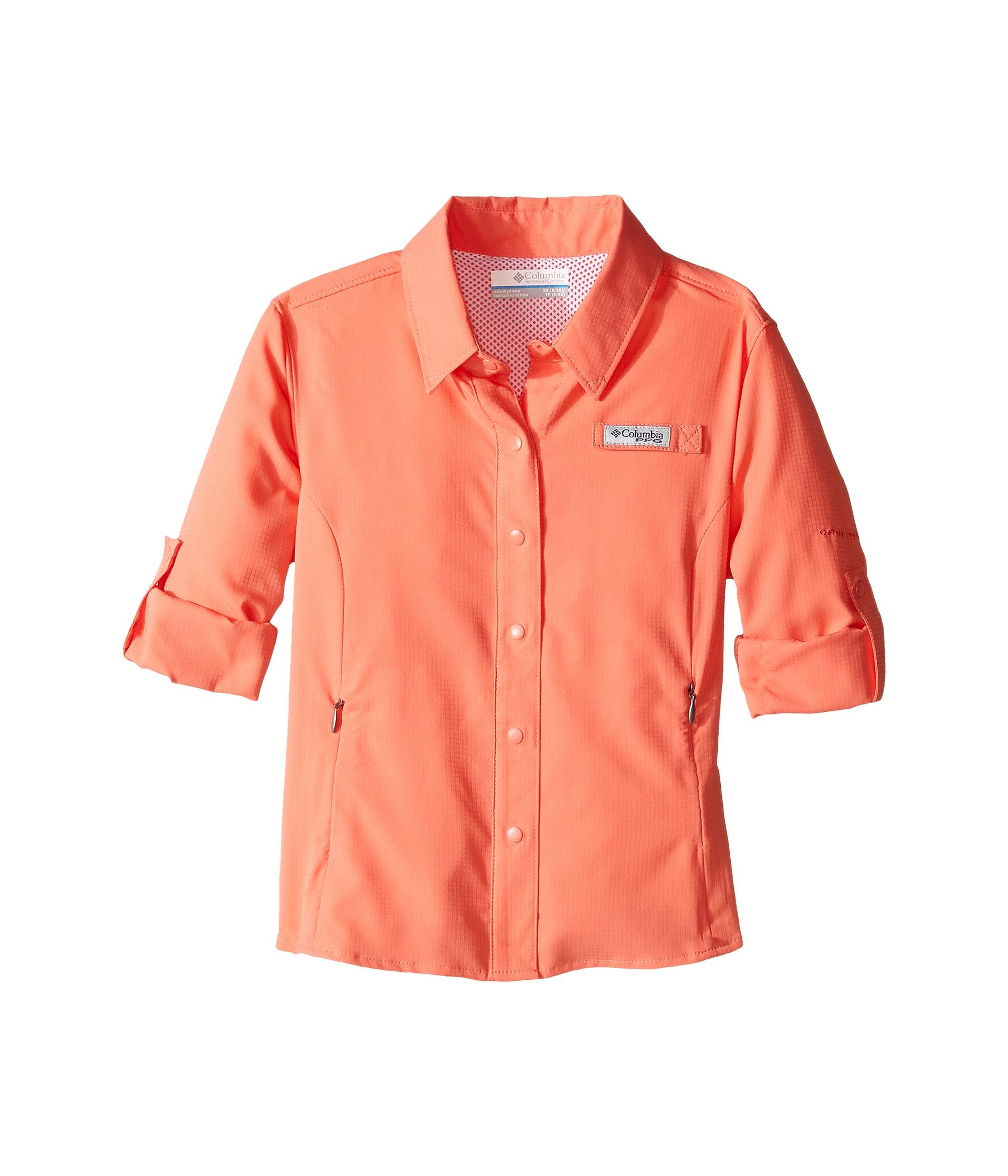 Columbia kids tamiami long sleeve shirt little kids big for Toddler columbia fishing shirt