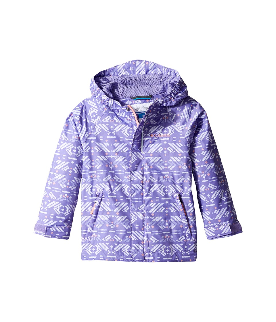 Columbia Kids Fast Curious Rain Jacket (Toddler) (Paisley Purple Print/Sorbet) Girl
