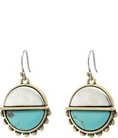 Lucky Brand - Turquoise Two-Tone Drop Earrings