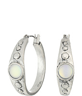Lucky Brand - Moon Stone Simple Hoop Earrings