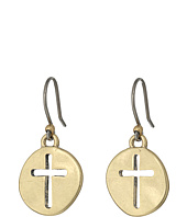 Lucky Brand - Cross Coin Earrings