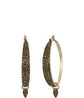 Lucky Brand - Pave Dangle Hoop Earrings