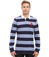 U.S. POLO ASSN. - Long Sleeve Rugby Striped Polo Shirt