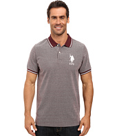 U.S. POLO ASSN. - Color Tipped Collar and Sleeve Cuff Pique Polo Shirt