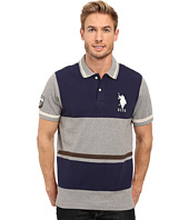 U.S. POLO ASSN. - Color Blocked Pique Polo Shirt