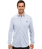 U.S. POLO ASSN. - Long Sleeve Slim Fit Birdseye Pique Button Down Sport Shirt