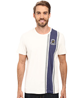 U.S. POLO ASSN. - Crew Neck Crest Patch Vertical Striped T-Shirt