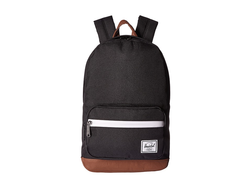 Herschel Supply Co. Pop Quiz Kids (Black/Tan Synthetic Leather 1) Backpack Bags