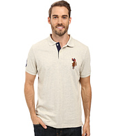 U.S. POLO ASSN. - Multicolor Double Rider Logo Solid Pique Polo