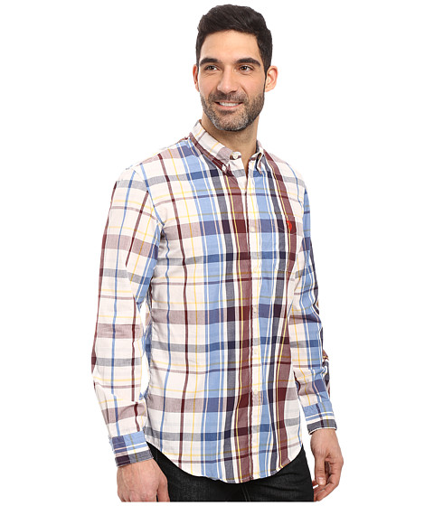 U s polo assn long sleeve classic fit plaid poplin for Button up collared sport shirts