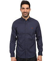 U.S. POLO ASSN. - Long Sleeve Slim Fit Brushed Twill Sport Shirt