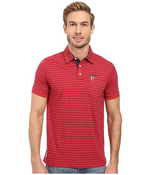 U.S. POLO ASSN. Short Sleeve Slim Fit Balanced Stripe Pocket Polo Shirt