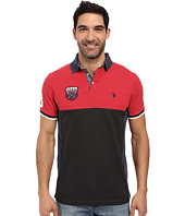U.S. POLO ASSN. - Sporty Short Sleeve Color Blocked Polo Shirt