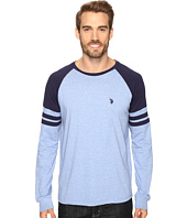U.S. POLO ASSN. - Long Raglan Sleeve Color Block Knit Shirt