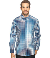 U.S. POLO ASSN. - Long Sleeve Poplin Small Check Sport Shirt