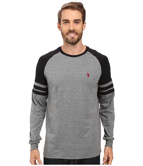 U.S. POLO ASSN. Long Raglan Sleeve Color Block Knit Shirt