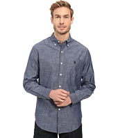 U.S. POLO ASSN. - Long Sleeve Cotton Canvas Slub Sport Shirt