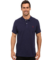 U.S. POLO ASSN. - Short Sleeve Fleck Pique Polo Shirt