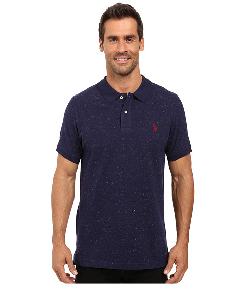 U.S. POLO ASSN. Short Sleeve Fleck Pique Polo Shirt