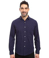 U.S. POLO ASSN. - Long Sleeve Slim Fit Dotted Swiss Button Down Sport Shirt