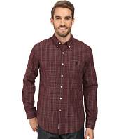 U.S. POLO ASSN. - Long Sleeve Slim Fit Dobby Button Down Sport Shirt