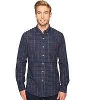 U.S. POLO ASSN. - Long Sleeve Slim Fit Dobby Button Down Sport Shirt