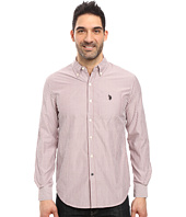 U.S. POLO ASSN. - Long Sleeve Poplin Striped Sport Shirt