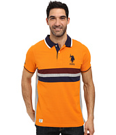 U.S. POLO ASSN. - Short Sleeve Classic Fit Chest Stripe Pique Polo Shirt
