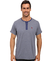 U.S. POLO ASSN. - Short Sleeve Candy Stipe Henley Knit Shirt