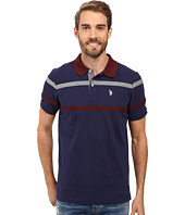 U.S. POLO ASSN. - Double Chest Stripe Pique Polo Shirt