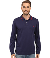 U.S. POLO ASSN. - Long Sleeve Cotton Interlock Polo Shirt