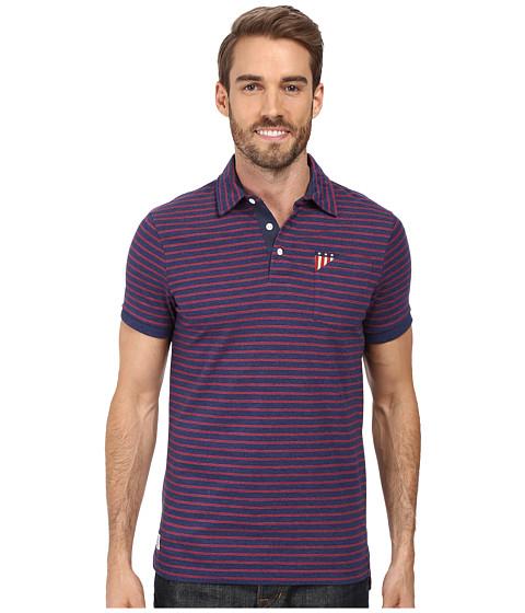 U s polo assn short sleeve slim fit balanced stripe for Short sleeve polo shirt with pocket
